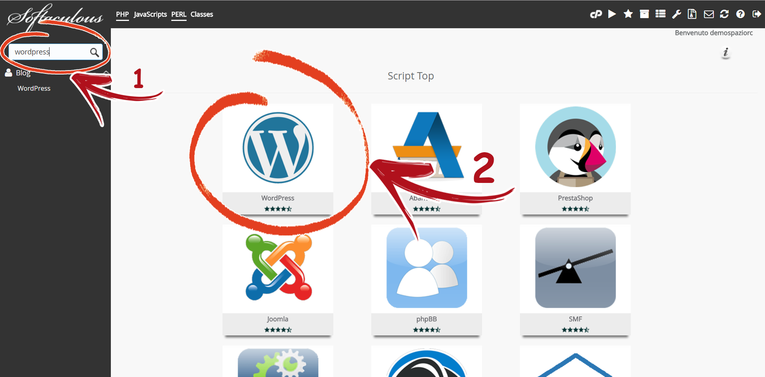cPanel Softaculous Wordpress